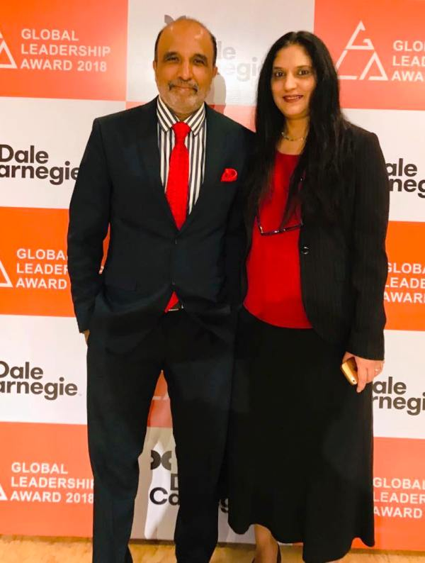 Sanjay Jha with his wife