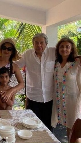 Seema Khan with her Parents