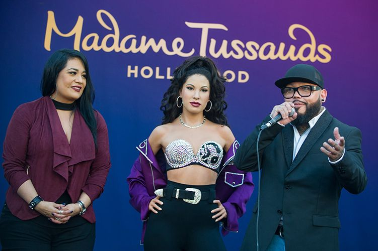 Selena Quintanilla's Siblings with her Wax Statue