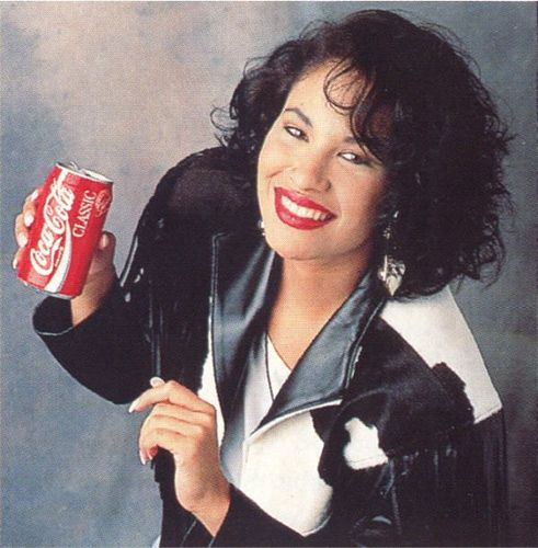 Selena in an Advertisement for Coca-Cola
