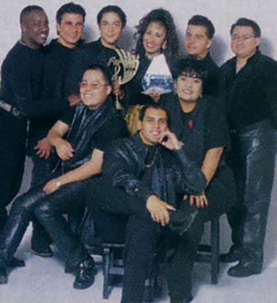 Selena with her Band