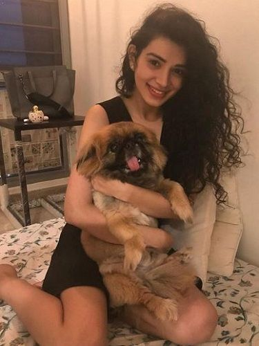 Sukirti Kandpal with her Pet Dog
