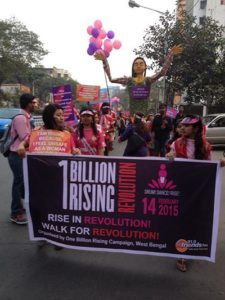 Swayam Team in a Campaign for 1 Billion Rising Revolution