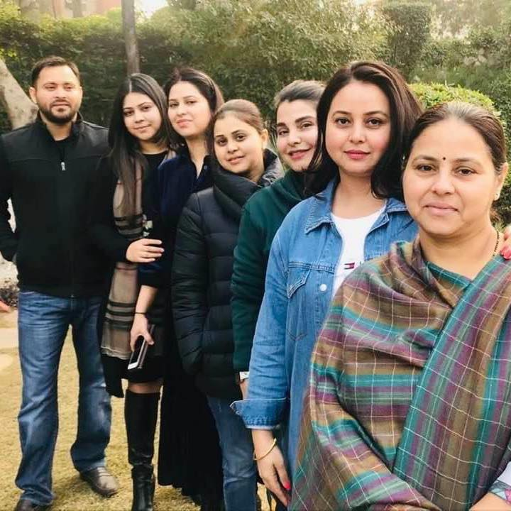 Tejashwi Yadav with his sisters