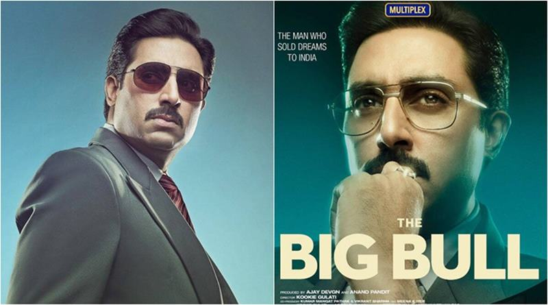 The poster of Big Bull starring Abhishek Bachchan