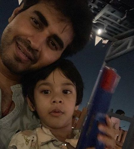 Yash Sinha with his Son