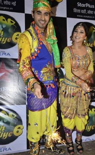 Yash Sinha with his Wife in Nach Baliye