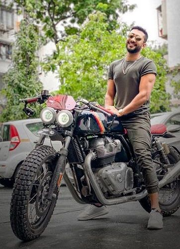Zaid Darbar Posing on His Motorcycle