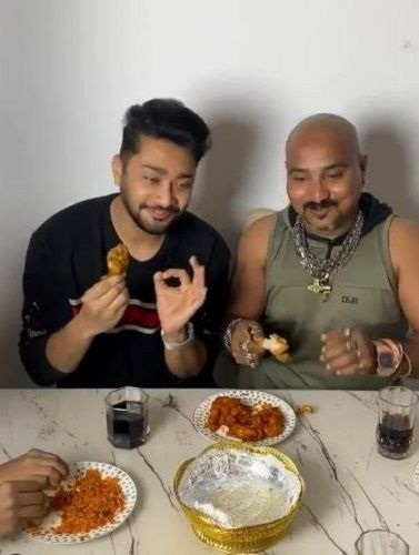 Zaid Darbar's Instagram picture about his food habit
