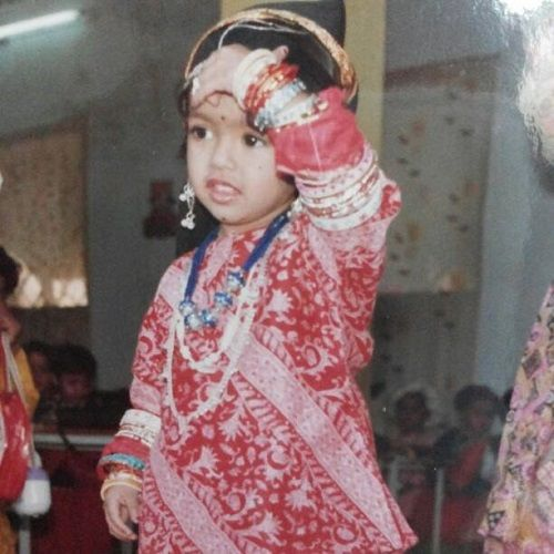 A Childhood Picture of Aditi Sanwal