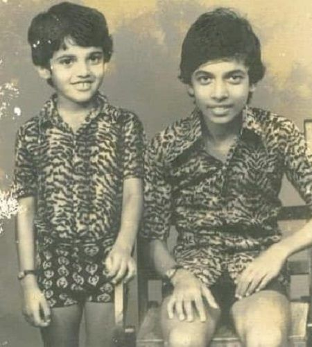 A Childhood Picture of Anil Nedumangad (Standing) with his Brother