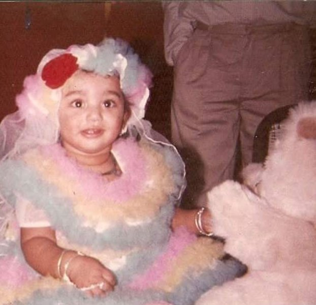 A childhood picture of Anjali Barot