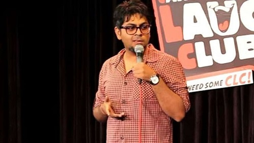 Abijit Ganguly performing at Canvas Laugh Club