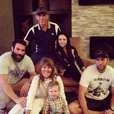 Adam Bilzerian with his Parents and Brother
