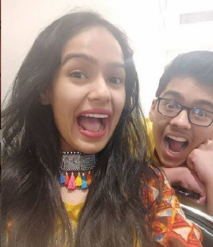 Aditi Sanwal and her Brother