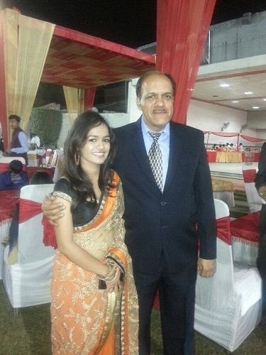 Aditi Sanwal with her Father