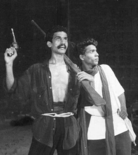 Anil Nedumangad in a Theatre Play