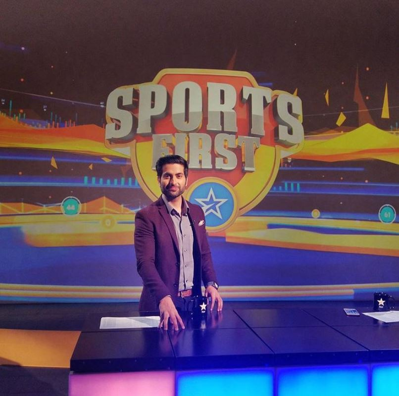 Dheeraj Juneja on the sets of Sports First