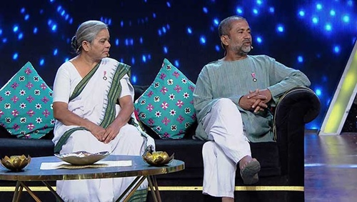 Dr. Smita and Dr. Ravindra Kolhe on tv show, Kanala Khada