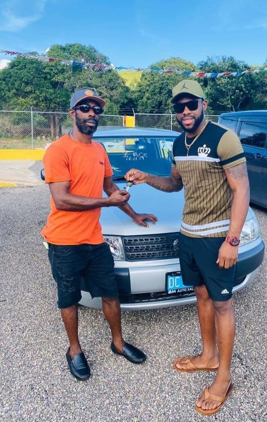 Fabian Allen gifting a new car to his father