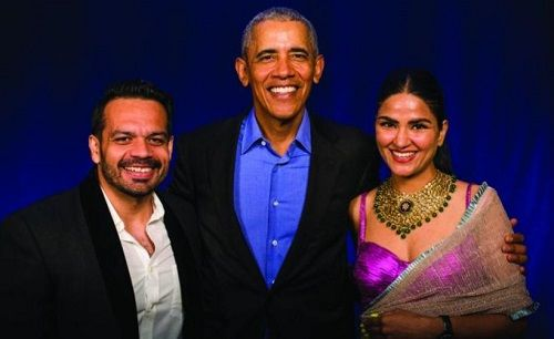 Gaurav Taneja and his Wife with Barack Obama