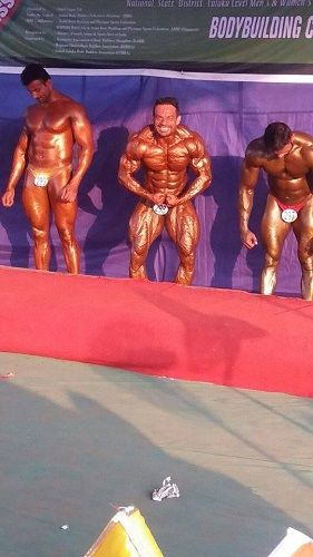 Gaurav Taneja in a Body Building Competition in 2016