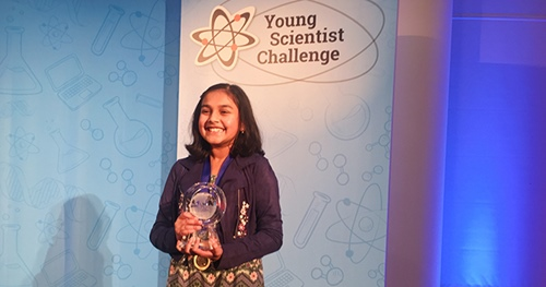 Gitanjali Rao with the award of Young Scientist Challenge, 2017