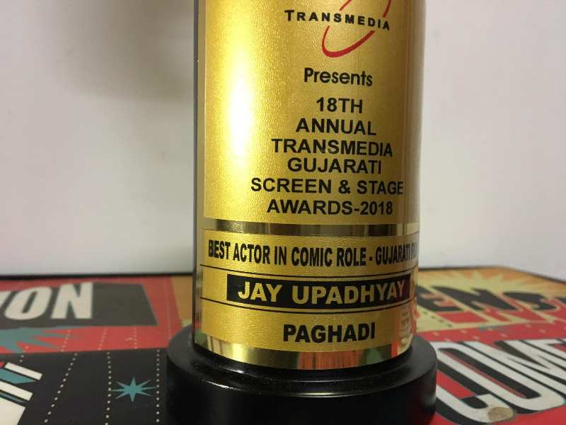 Jay Upadhyay's award for Best Actor in comic role