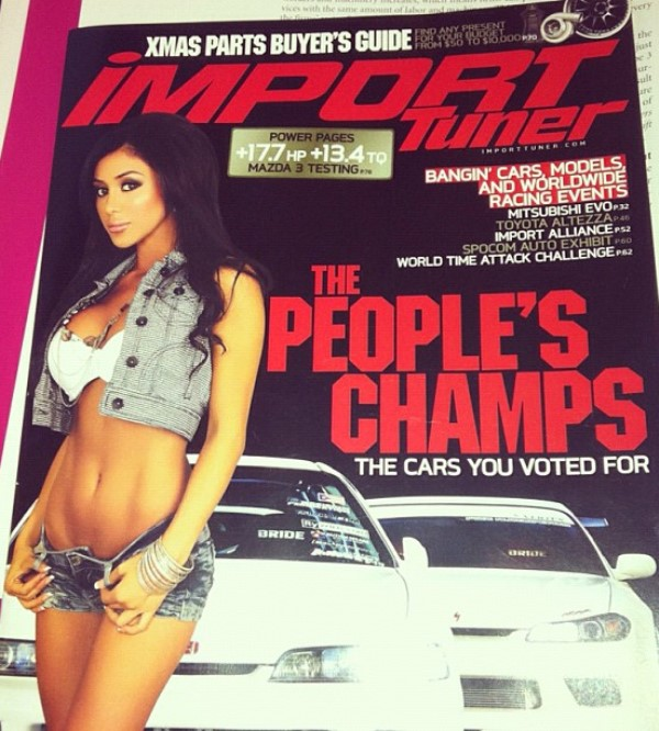 Joselyn Cano on the cover of Import Tuner Magazine