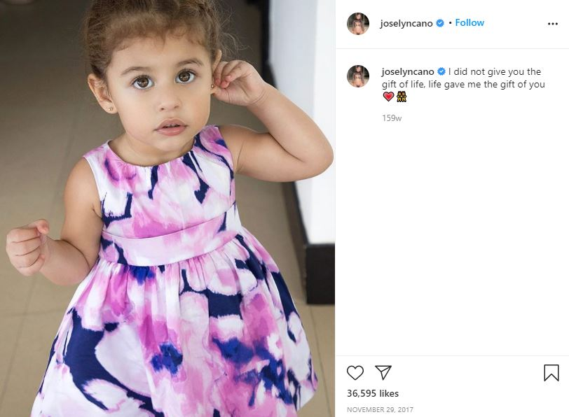 Joselyn Cano's daughter's picture on her Instagram account