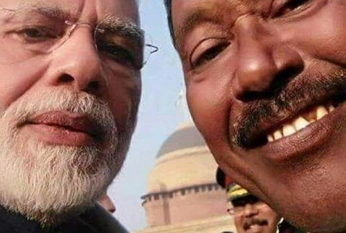 Karimul Haque's selfie with PM Narendra Modi
