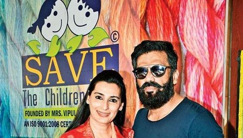 Mana Shetty with her Husband in an Event of her NGO