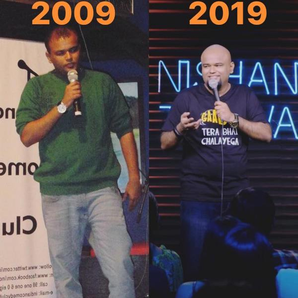 Nishant Tanwar when he started stand-up comedy