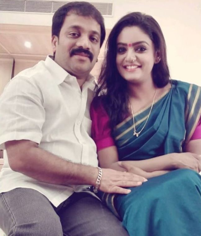 Premi Vishwanath with her husband