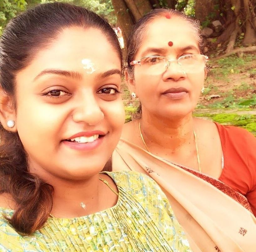 Premi Vishwanath with her mother