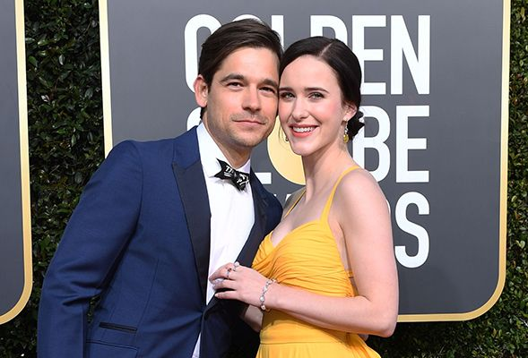 Rachel Brosnahan with her Husband