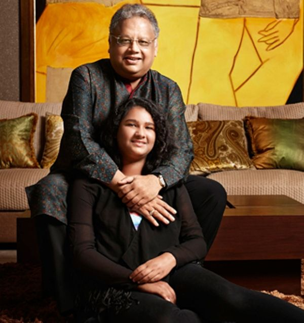 Rakesh Jhunjhunwala with his daughter Nishtha