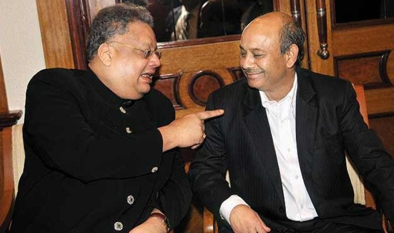 Rakesh Jhunjhunwala with his mentor Radhakishan Damani
