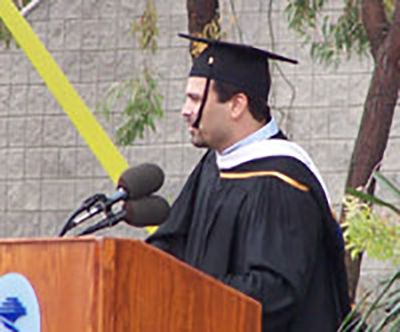Ricardo Chavira Giving Commencement Speech at Earl Warren College