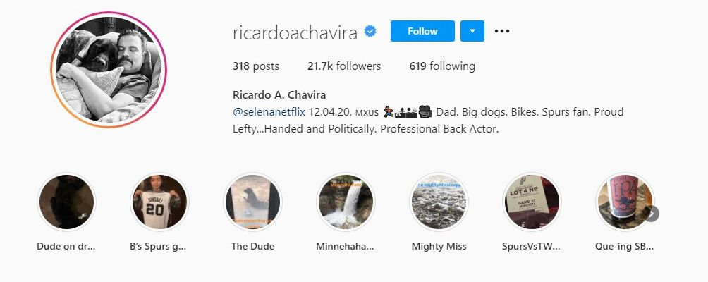 Ricardo Chavira Talking About his Handedness in his Instagram Bio