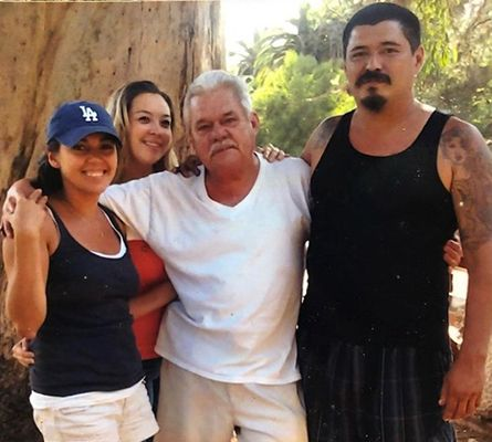 Seidy López with her Father and Siblings