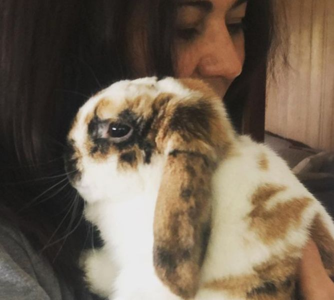 Seidy Lopez with her Bunny