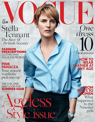 Stella Tennant featured on a Magazine Cover