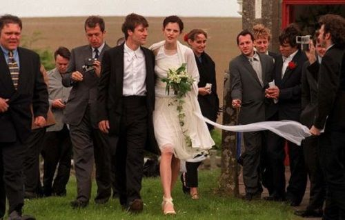 Stella Tennant and David Lasnet on their Wedding Day