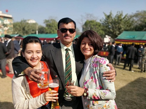 Sulagna Panigrahi with her Family