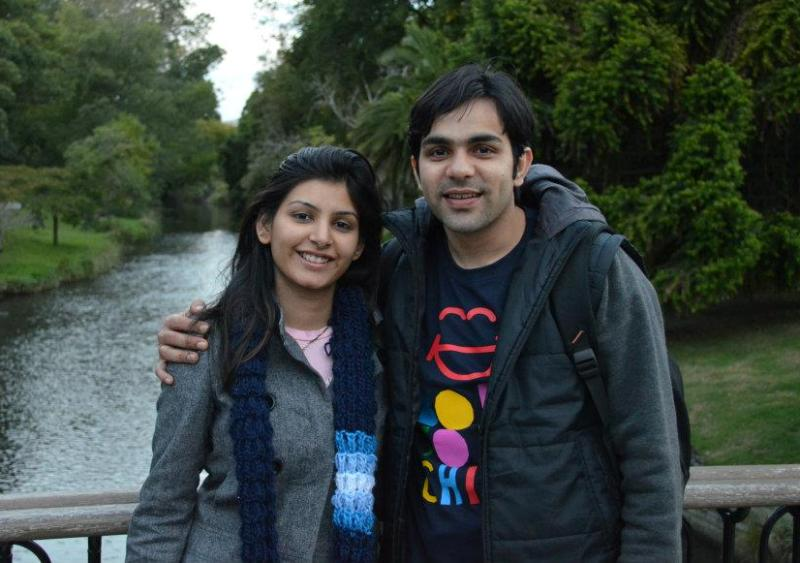 Sumit Anand with his wife