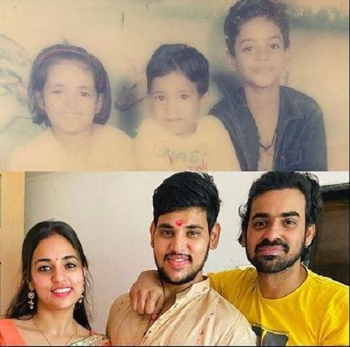 Then and Now Pictures of Aditya Ojha and his Siblings