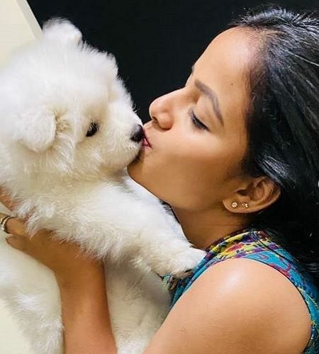 Vaishnavi Chaitanya and her Pet Dog