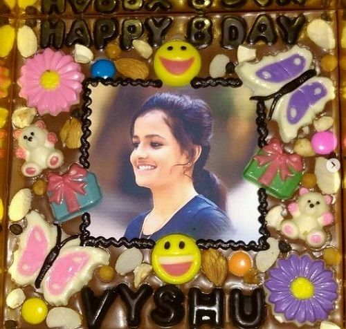 Vaishnavi Chaitanya's Birthday Cake with her Nickname