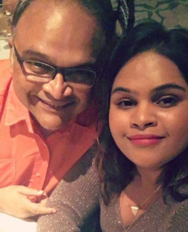 Vidyullekha Raman with her father